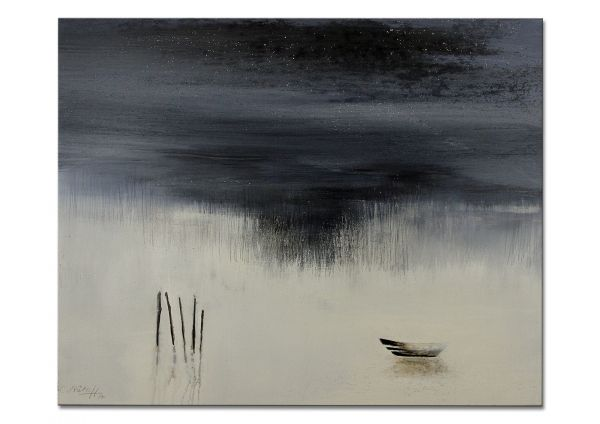 """Abstrakte Bilder kaufen, moderne Galerie Kunst, Conny Niehoff: """"Unter'm Sternenhimmel"""""""