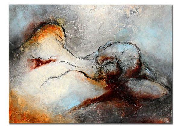 """Zeitgenössische Kunst online kaufen, Aktgemälde von M.Steinacher """"Silence"""""""