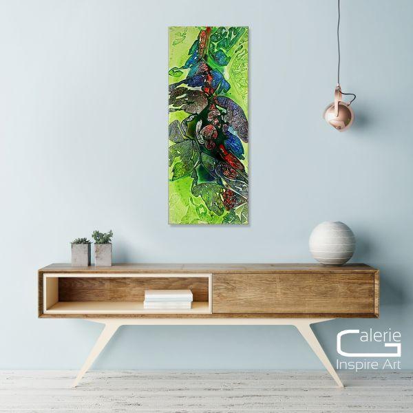 """Abstraktes Gemälde im Hochformat, Dieu """"New Paradise"""""""