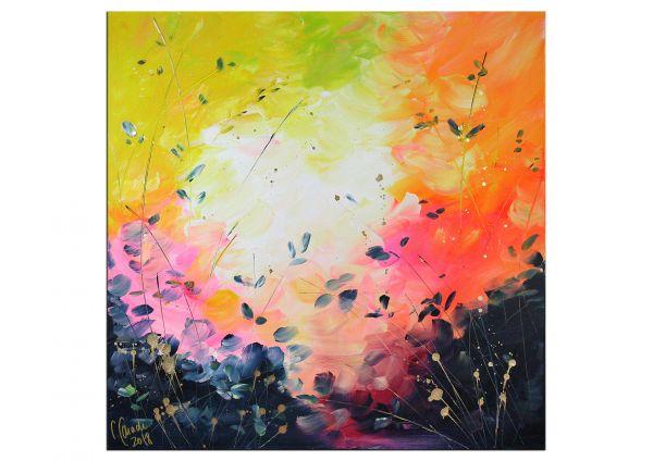 """Abstrakte Kunst """"Lichte Tage"""" glanzvolles Original Gemälde"""