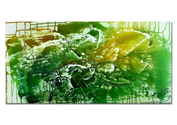 """Grünes Tal"" - abstraktes Wandbild - zeitgenössische Kunst"