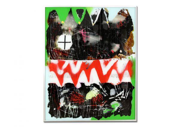 "Zeitgenössische Kunst abstrakte Malerei, Ulrike Rendle: ""Streetart I"""