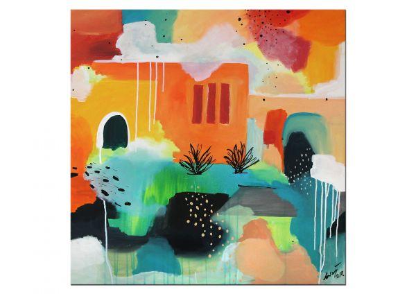 """MEXICAN"" traumhaftes Unikat Gemälde, moderne Kunst"