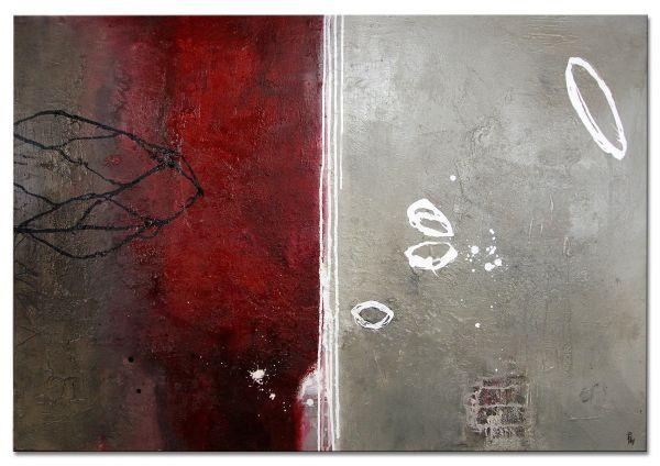 """Abstrakte Malerei, handgemalt, Galeriegemälde """"Floating"""" (ZF)"""