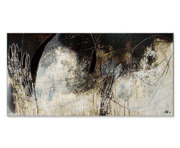 "Abstrakte Malerei, Manuela Pilz: ""Winterpoesie II"""