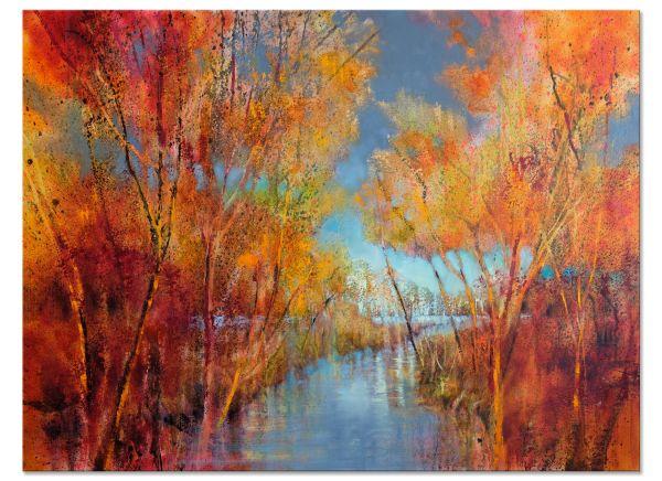 Herbstfreuden Ölbilder malerei Landschaft