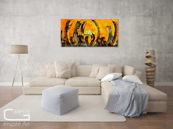 "Modernes Gemälde ""RUSTY"" urbane abstrakte Kunst"