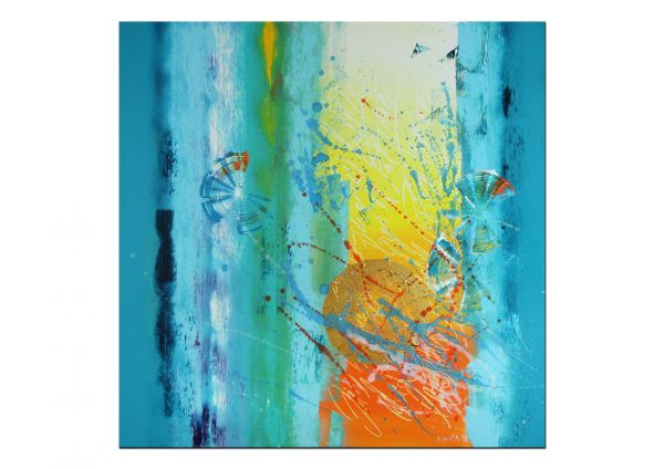 """""""Sunny Day"""" abstraktes Acrylgemälde von Nikita"""
