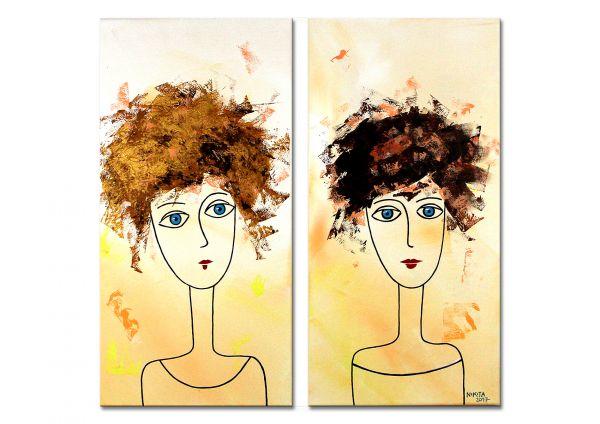 """Kunst abstrakte Malerei, Nikita: """"The Beauties 2"""""""