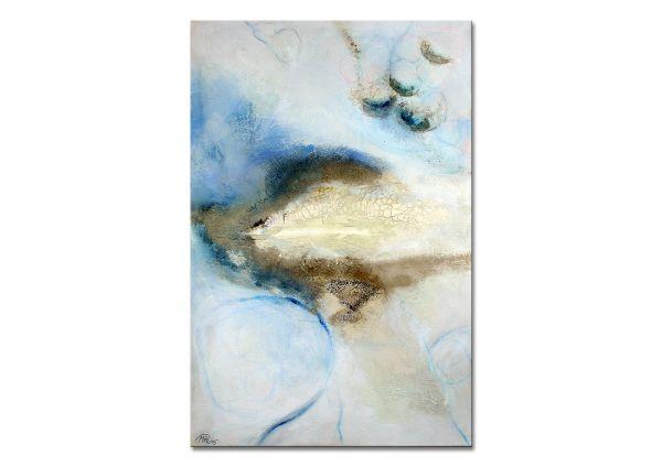 """Abstrakte Kunst auf Leinwand, Manuela Pilz: """"Schneeland I"""""""