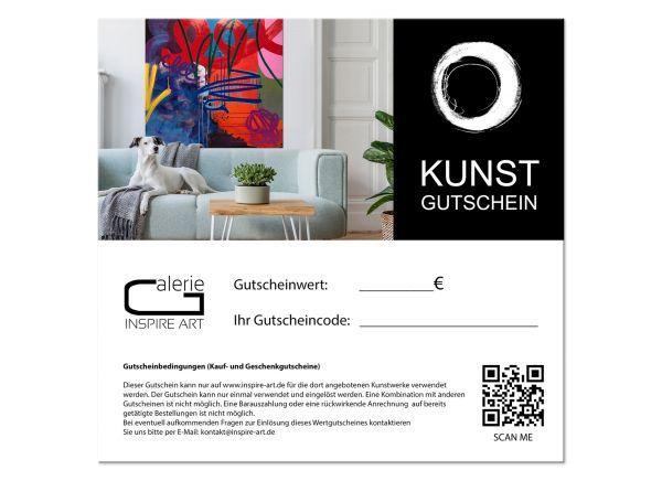 Geschenkgutschein für Kunst im Wert 50,- EUR
