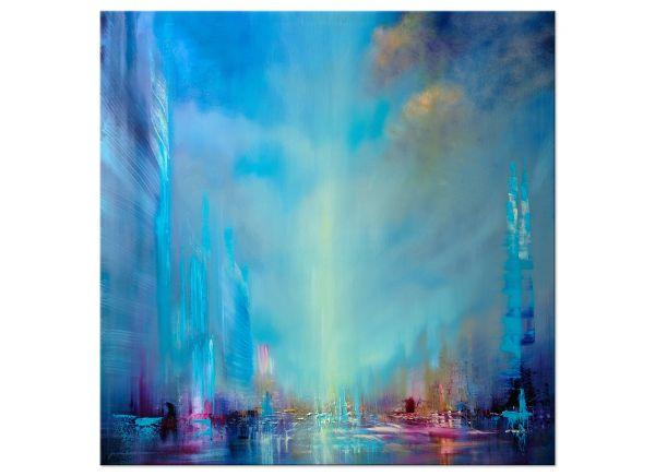 unendlich Kunst Metropole, Ölgemälde von A.Schmucker