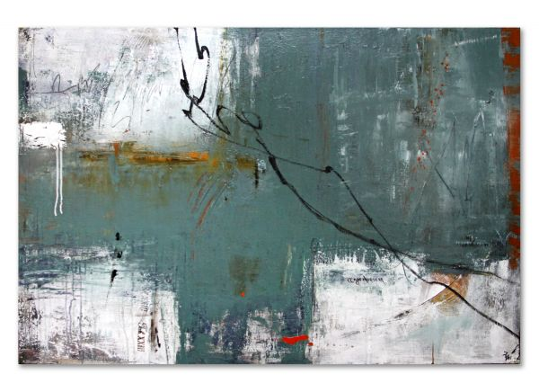 Raum ohne Aussicht informelle malerei kunst abstrakt