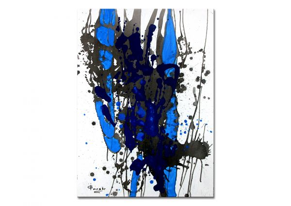 """Abstrakte Malerei, Irene Ganske: """"Abstrakt I (blau)"""""""