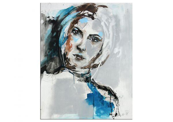"""""""Brown Eyed Girl"""" Portraitmalerei abstrakt von M.Steinacher"""