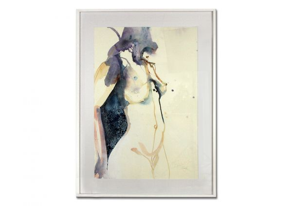 "Aquarell Malerei expressionistisch, Elke Memmler: ""Akt I"""