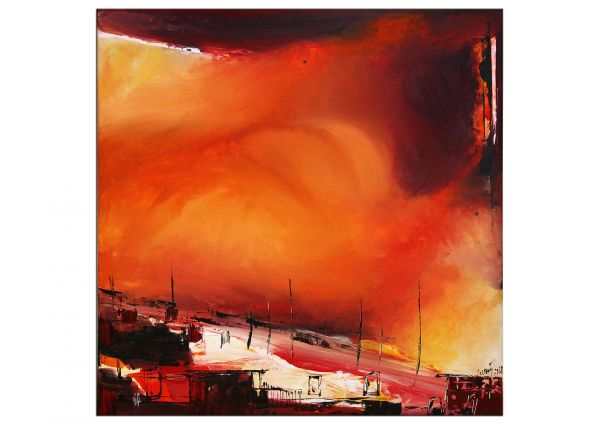 """Cloudfiles"" farbstarkes Acrylgemälde von Yosi Losaij"