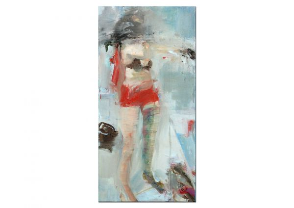 """Tanz mit mir"" figurative Kunst, Ölgemälde, Mila Plaickner"