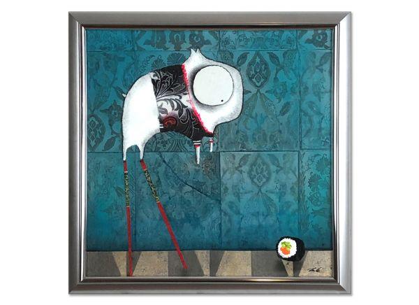 Glasbilder Rahmen silber Collage