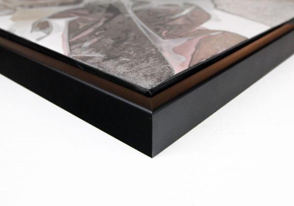 COMFORT Massivholz Schattenfugenrahmen in schwarz, (SFR43912), passgenaue Fertigung