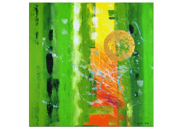 """""""Green Power"""" frische Farben: Acrylgemälde von Nikita"""