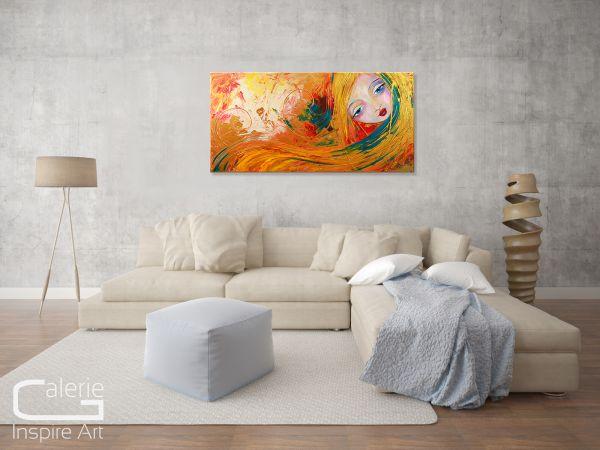 """Lorelei"" - Bild auf Leinwand - Malerei abstrakt"