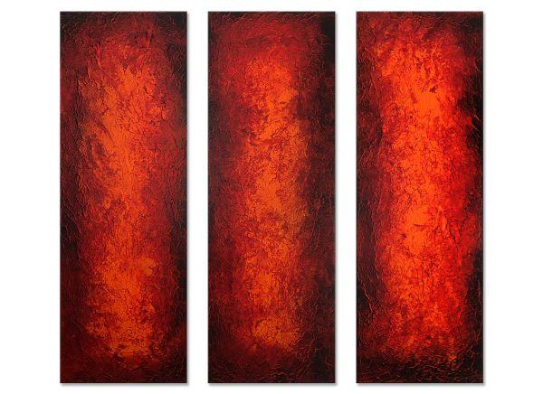 Triptychon Bilder in rot