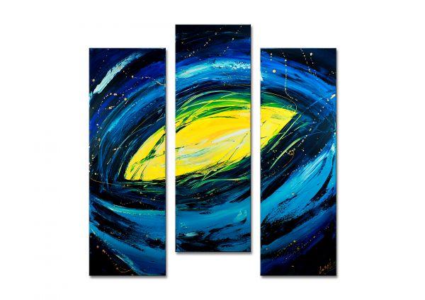 """Perlentaucher"" modernes 3 tlg. Wandbild - original Acrylgemälde [Triptychon]"