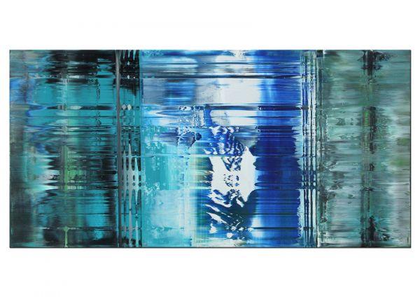 Mondscheingang Gemälde blau