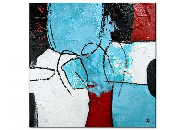 """Original auf Leinwand, moderne Kunst """"Begegnung"""""""