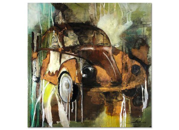 VW Kaefer Malerei abstraktes Acrylbild