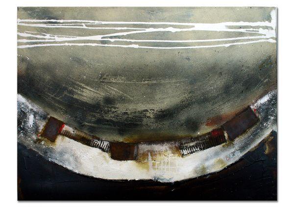 """""""Die Nacht nimmt Abschied"""" abstraktes Gemälde, zeitgenössisch"""