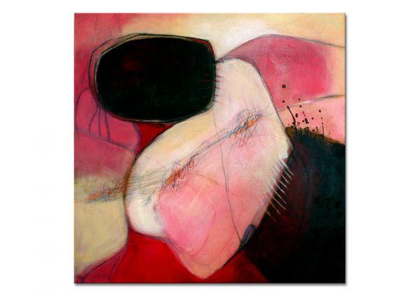 """Modernes Ölgemälde, Original Leinwandbilder, Manuela Pilz: """"Apricot-Red"""""""