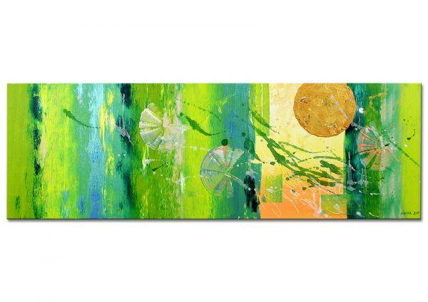 """Grünes Gemälde, Nikita: """"Traumland"""" - Unikat"""