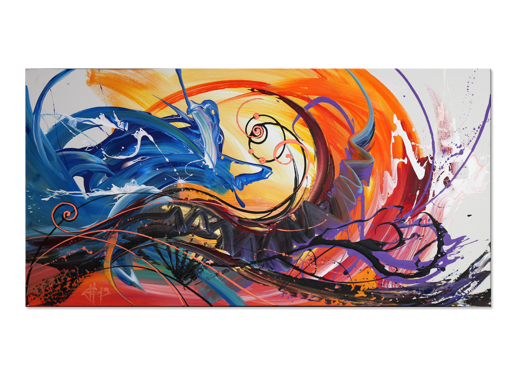 Kunst Bilder Kaufen Broken Wheel Acrylbild Galerie Inspire Art