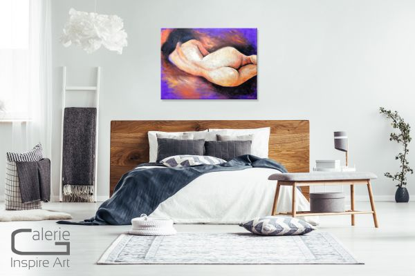 """Akt 006"" abstraktes Aktgemälde, Acryl Aktbilder"