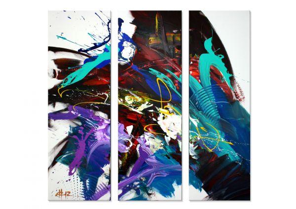 """Whiteboard"" - kunstvolles Wandbild in Acryl - modernes Gemälde"