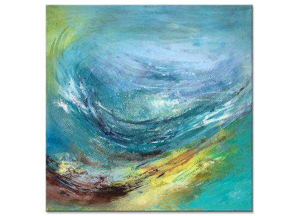abstrakt modern Tage am Meer agnes lang kunst gemälde