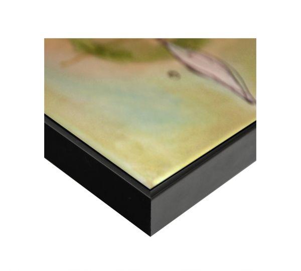 Echtholz Schattenfugenrahmen in schwarz, SLIMLINE (SFR36612), passgenaue Fertigung