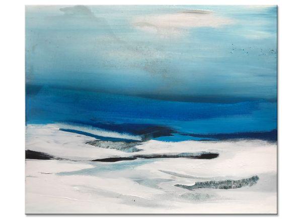 Original Gemälde meer blau