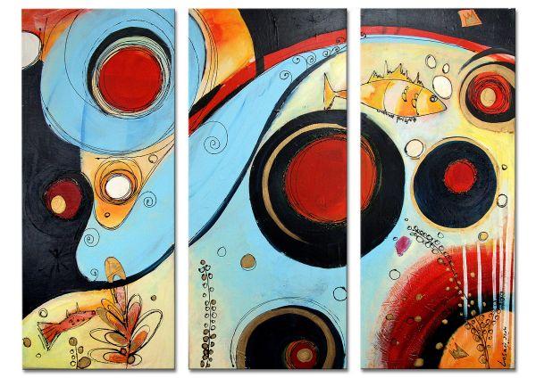 """Abstrakte zeitgenössische Kunst von Losaij: """"Fantasia"""""""