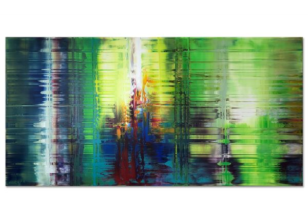 abstrakte Bilder in grün kaufen