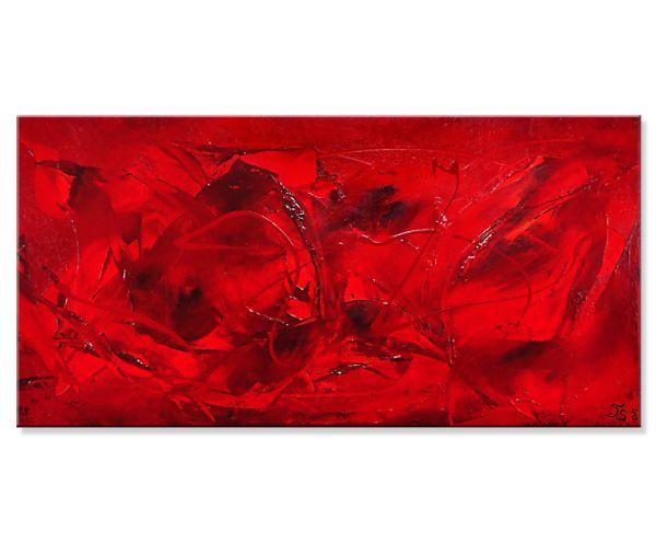 "Unikat Gemälde kaufen, Th.Stephan: ""In´s Rote"" - abstrakte Acrylmalerei"