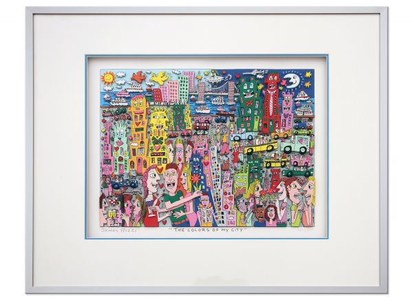 James Rizzi THE COLORS OF MY CITY pop art