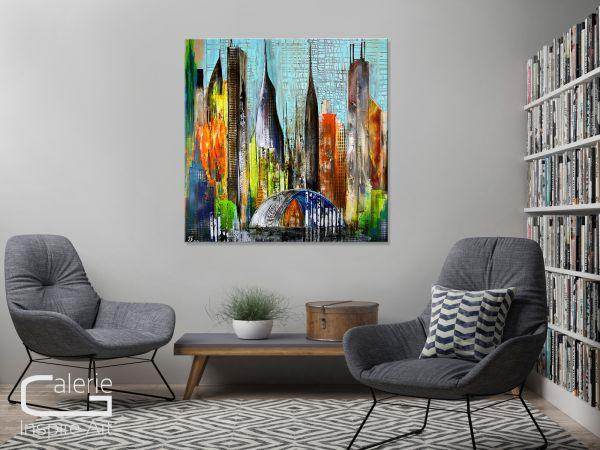 """Kunst Bilder kaufen, Ausstellungsgemälde, """"Metropole"""""""