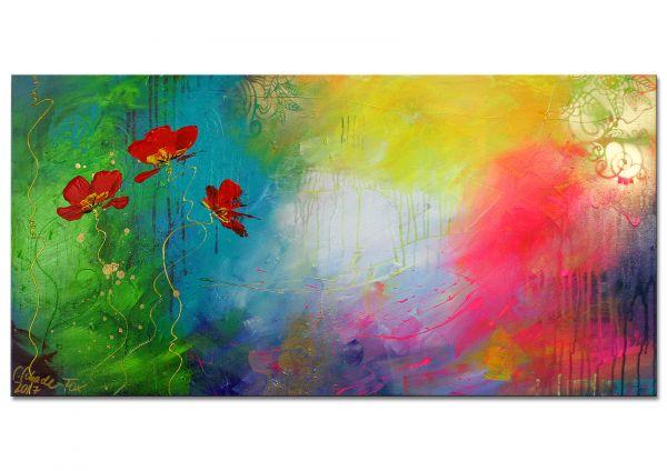 """Kunst abstrakt von Lydia Schade-Fox """"Neues Glück"""""""