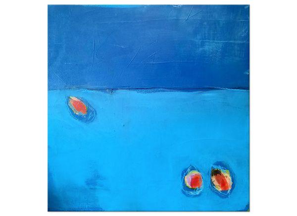 """Moderne Kunst von C.Wachsmann """"Teatime"""" Gemälde"""