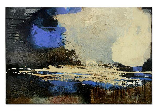 """Abstrakte Kunst Bilder, Manuela Pilz: """"Brown-Blue"""""""
