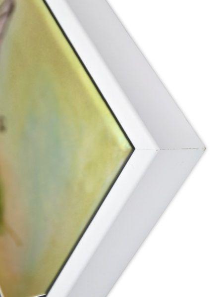 Massivholz Schattenfugenrahmen COMFORT in weiß, (SFR43914), passgenaue Fertigung