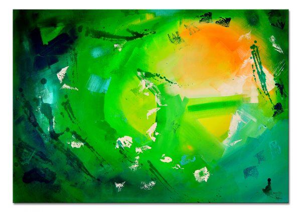 grünes Gemälde Acryl